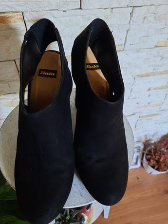Туфли нат.замш BATA 39р. На стопу24,5