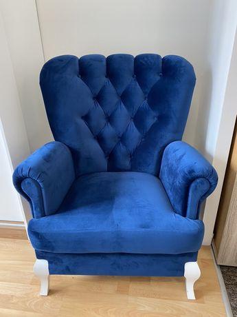 Stylowy Fotel - Nowy - Niebieski
