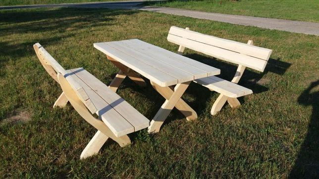 Stół ławki komplet ogrodowy drewniany meble ogrodowe stol lawki lawka