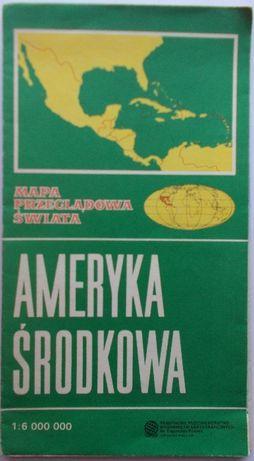 OKAZJA! Mapa Ameryka Środkowa 1989r. Mapa Ameryki Środkowej TANIO!