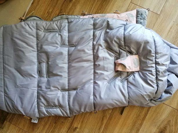 Śpiworek zimowy do wózka Lela Blanc kolor Lady Swan