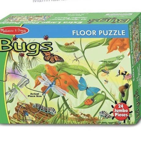 """Напольный пазл """"Жуки"""" Melissa&Doug Bugs Floor Puzzle"""