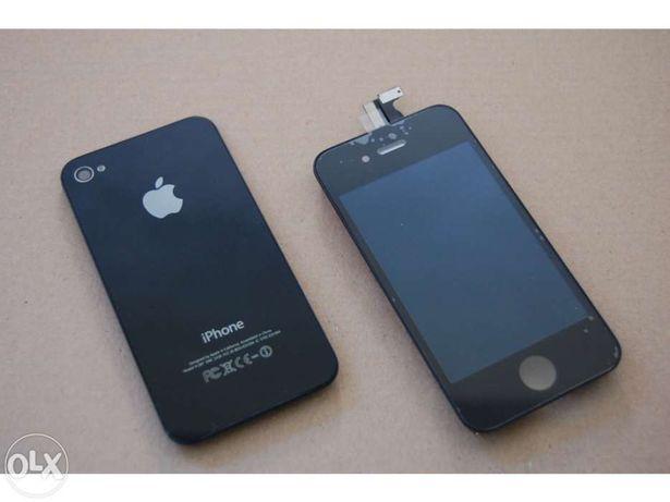 Vidro frente e trás original apple iphone 4 , 4s preto novo
