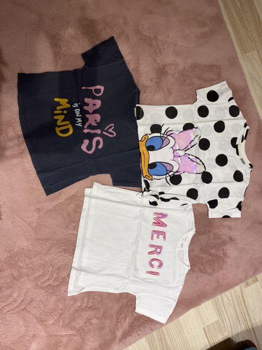 Koszulki dziewczęce z krótkim rękawem - Zara, roz. 110 Bogdaniec - image 1