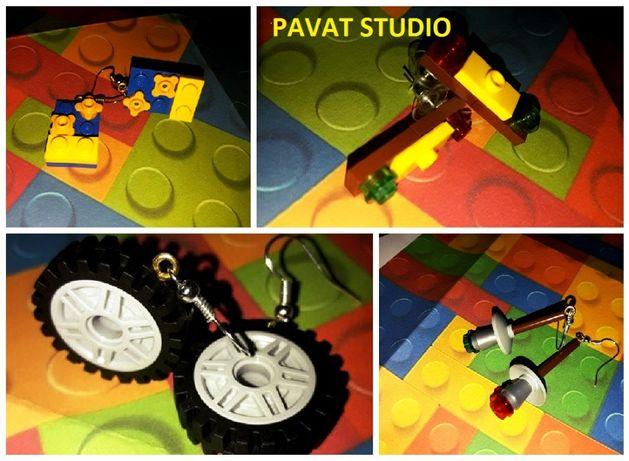 Lego кульчики Лего для девочек Лего заколки кольца