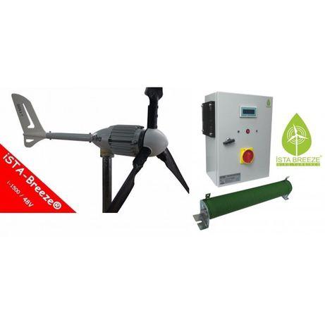 aero gerador eólico i-1500 de 24v/48 v + controlador de carga híbrido