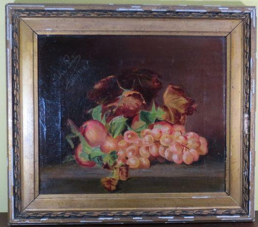 Óleo sobre tela representando Natureza Morta; Assinado e datado 1929;