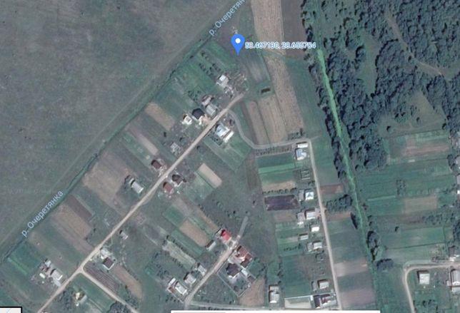 Продам участок пгт. Черняхов ул.Квиткова 47 с проектом жилого дома