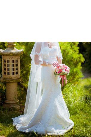 Продам свадебное платье (рыбка цвета айвори)