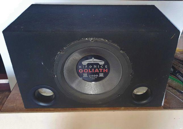 Subwoofer 2400 W RMS , skrzynia basowa, car audio