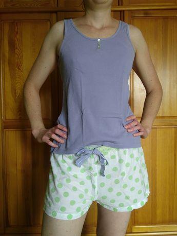 Pidżama - spodenki w groszki + bluzka