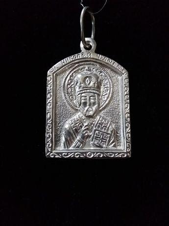Новая серебряная иконка ладанка