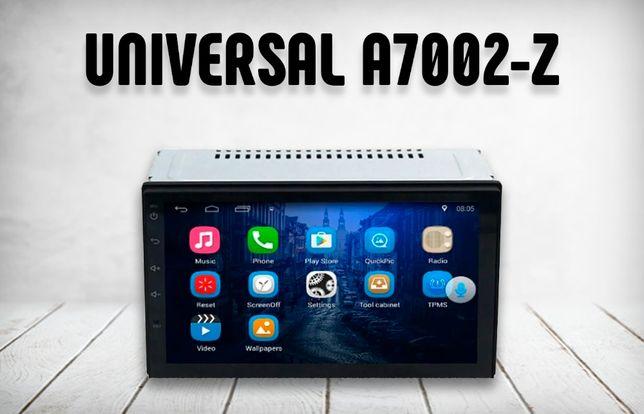 "Сенсорная автомагнитола UNIVERSAL A7002-z 7"", USB, SD, 2DIN, IPS, ТОП"