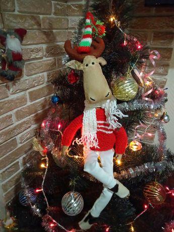 Лось Тильда, новогодний декор, подарок на Рождество