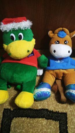 Детский рюкзак коровка и динозавр