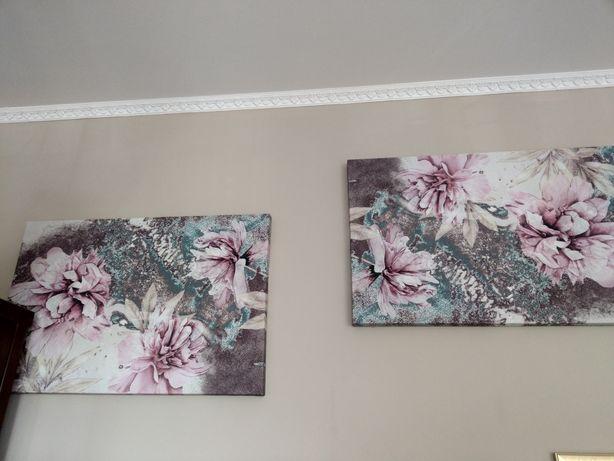 Obrazy w kwiaty  .