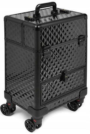 Kufer  kuferek kosmetyczny kosmetyki mobilny czarny