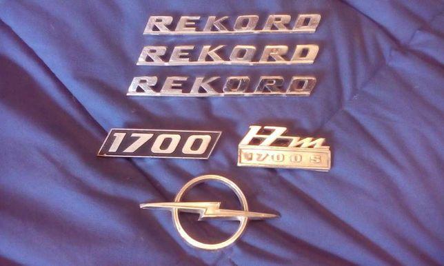Conjunto de Raros e Antigos Símbolos Opel Rekord 17m e Fiat 128