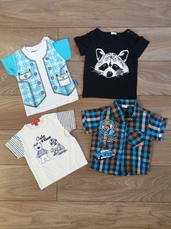 Zestaw ubranek dla chłopca koszulki i koszula rozmiar 74
