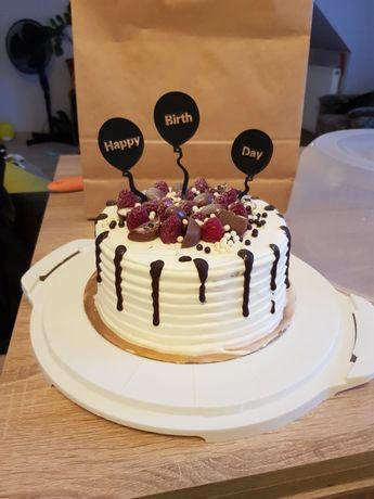 Topper na tort balonik 3szt