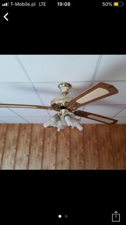 Żyrandol sufitowy wentylator lampa