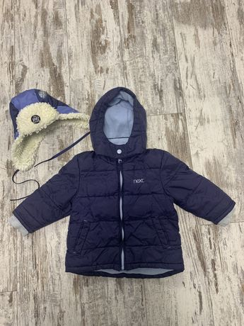 Куртка Next Некст демисезонная и шапка с утеплителем на 12-18 месяцев