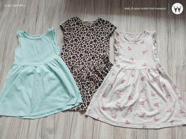 Sukienki H &M r.110/116