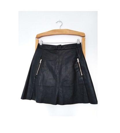Czarna spódnica skórzana