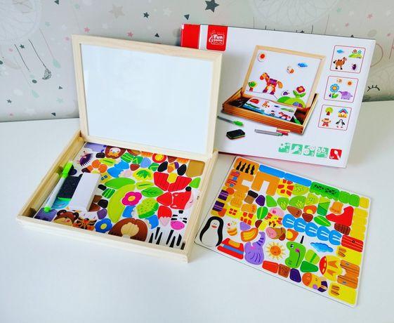 Дерев'яна іграшка, деревянная игрушка, дерев'яна гра,дошка з магнітами