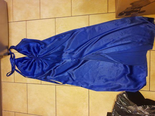 Sukienka, długa z rozporkiem