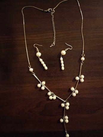 Naszyjnik perły plus kolczyki