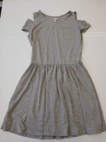 Sukienka dresowa szara CROPP z wycięciami rozm. S