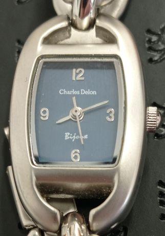 Charles Delon Bijonse_ piękny damski zegarek kwarcowy. E01