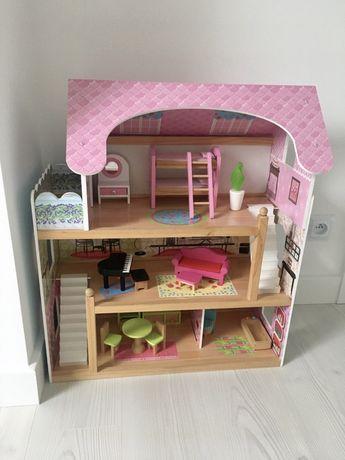 Domek drewniany dla lalek, dom dla lalek, Ecotoys, zabawka eco,