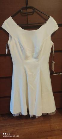 Biała sukienka r.40