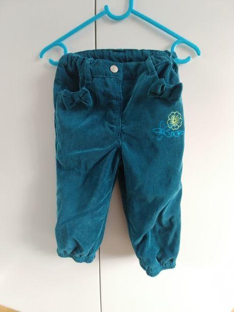 Spodnie ocieplane z regulowanym pasem Coccodrillo r.86 stan idealny