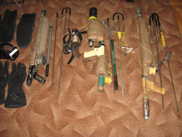 Подводные ружья, подводные маски, перчатки, трубки, ласты, носки
