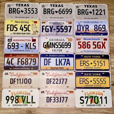 Американский номер парный Калифорния, Техас, Флорида, Небраска Америка