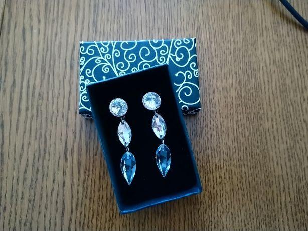 Kolczyki ślubne sopelki/kryształki