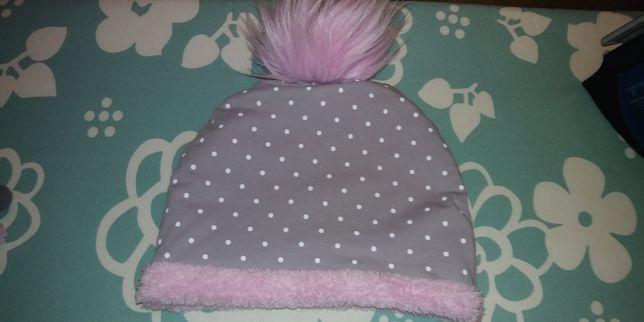 Komplet zimowy czapka chusta