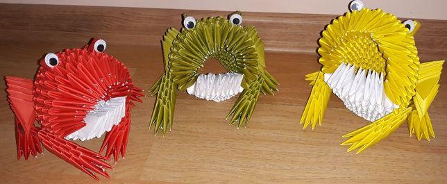 Żaba z origami modułowego
