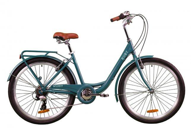 """Велосипед 26"""" Dorozhnik Ruby Модель 2020 Изумрудный"""