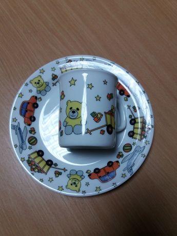 Тарелка с чашкой (детский набор)