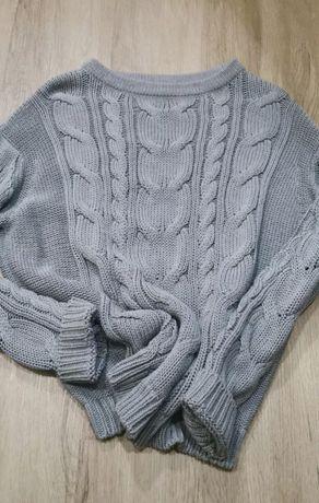 Piękny, szary sweter r. S idealny na wiosnę