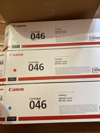 Canon 046 cyan magenta yellow black canon 046h першопрохідні катриджі