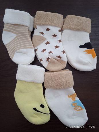 зимние детские носки 12-18 мес