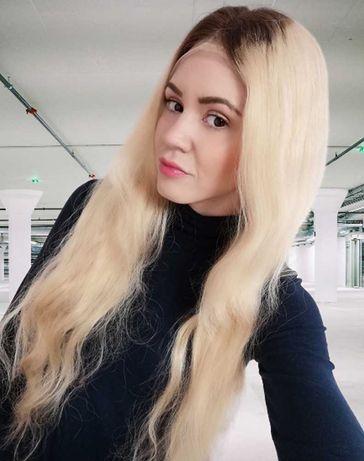 Peruka naturalna Chicago  lace front  blond ombre by Nessaja Okazja!
