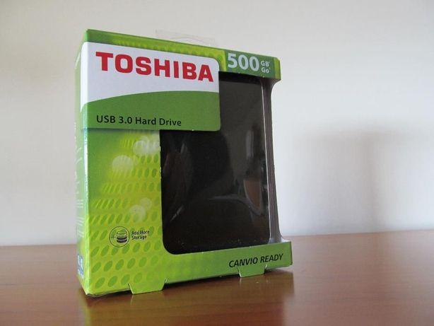 "NOVO - Toshiba Disco Externo USB 3.0 Canvio Ready 500 GB - 2,5"""
