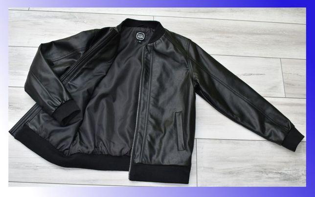 Skórzana eco kurtka dla chłopca 140/146 - zakupiona w Smyku, nowa