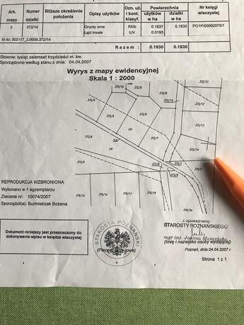 Działka budowlana w Lusówku gmina Tarnowo Podgórne